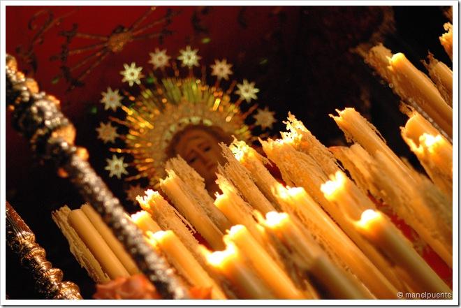 Verge de la Cofradia Nuestra Señora de los Dolores. Passant per la Carrera del Darro.