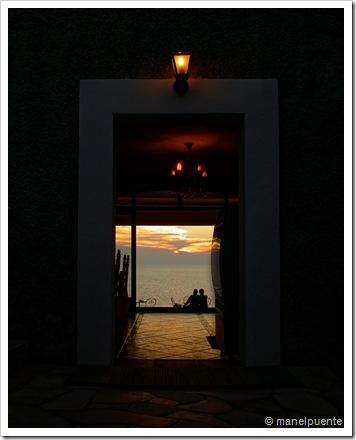 Posta de Sol des de Cap Negret, al restaurant Sa Torre. Eivissa