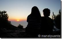 Posta de sol al nord-oest de l'illa d' Eivissa