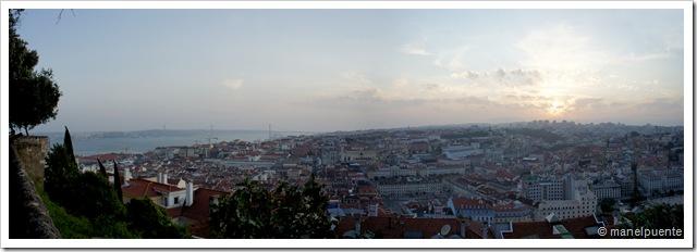 Vistes de Lisboa des del Castelo São Jorge