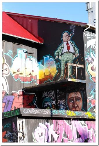 Graffitis al centre per a joves de Reykjavik