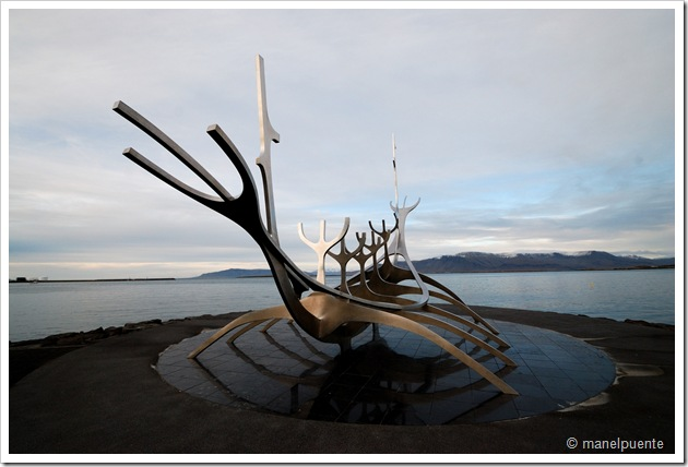 Sun-Craft. Monument de Gunnar Árnason a la ciutat de Reykjavik