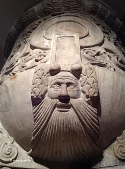 Detalle de una columna de marmol perteneciente al Bouleuterion