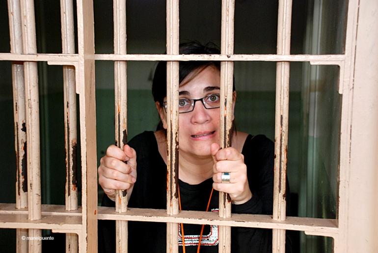 Cristina va voler provar una petita estada entre reixes