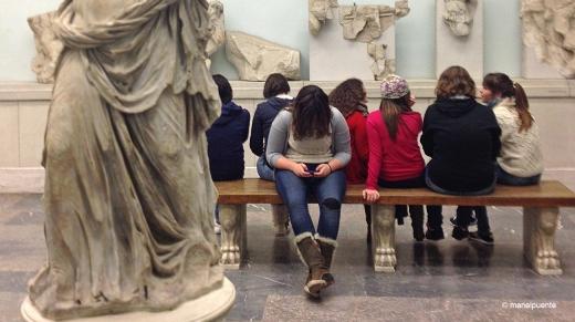 Estudiantes alemanes visitan el Museo
