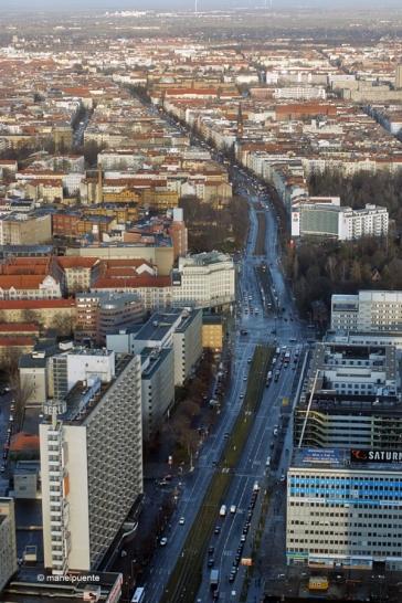 Vistas de la Avenida Karl Max desde el mirador de la torre