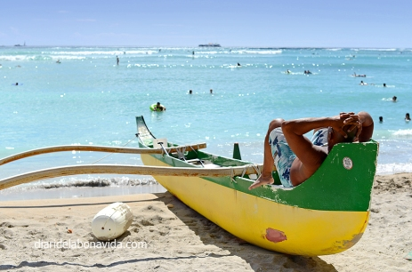 Relax en la playa de Waikiki. Honolulu