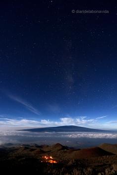 Vistas del valle des de el Mauna Kea. Big Island