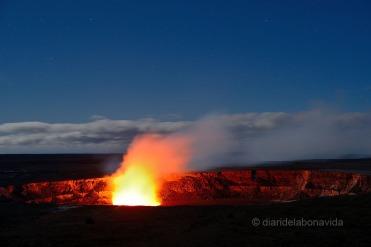 Cráter del volcan Kilauea. Hawai'i Volcanoes National Park. Big Island