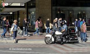 La presencia de la policía siempre es bien visible
