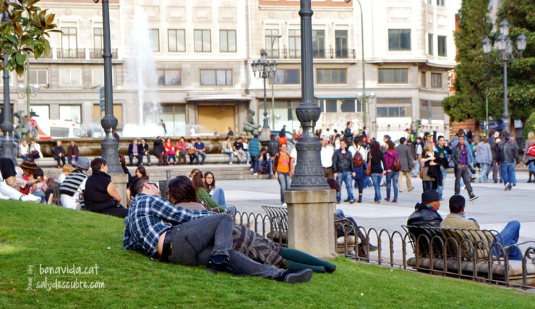 Los Jardines de la Plaza España también son un buen lugar donde descansar