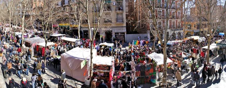 El Rastro es uno de los mercados callejeros más populares