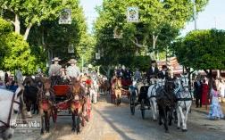 Carruajes y caballos son protagonistas de la Feria
