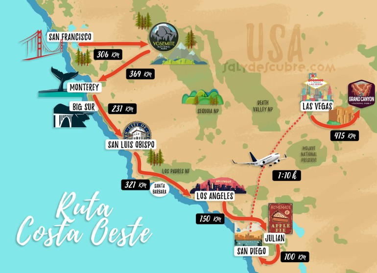 mapa ruta costa oest 01 esp final